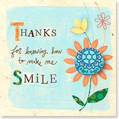 Appreciate You Card - Thanks for the Smile | Jessica Flick | 23427 | Leanin' Tree