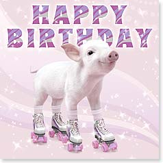 Birthday Card - Well, aren't you the cutest thing on wheels! | Wild-Side Brands Ltd | 23452 | Leanin' Tree