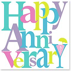 Anniversary Card - Let's offer cheers for many, many happy years! | Janet Morley | 23463 | Leanin' Tree