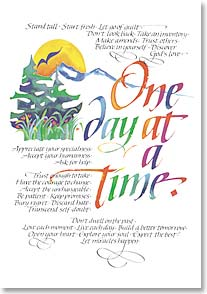 Motivation & Inspiration Card - One Day At A Time. | Louise Grunewald | 2373 | Leanin' Tree