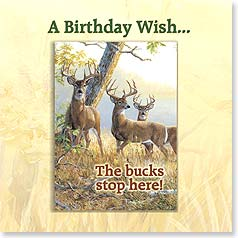 Birthday Magnet Card - Big Bucks On Your bithday | Persis Clayton Weirs | 24016 | Leanin' Tree