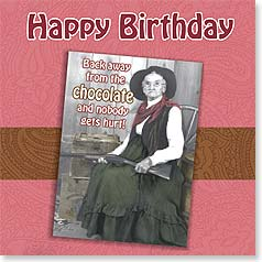 Birthday Magnet Card - Your Chocolate or Your Life | David M. Logan | 24024 | Leanin' Tree