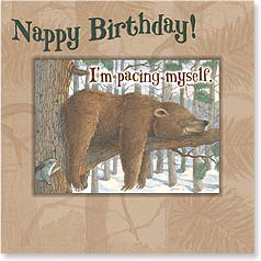 Birthday Magnet Card - Nappy Birthday | Jeffrey Severn | 24029 | Leanin' Tree
