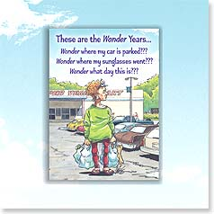 Birthday Magnet Card - Wonder Years | Ben Crane | 24036 | Leanin' Tree