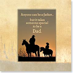 Birthday Magnet Card - Glad You're My Dad | Robert Dawson | 24050 | Leanin' Tree