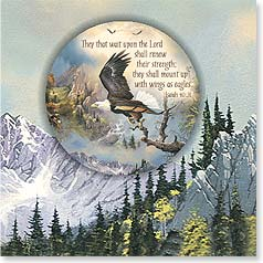 Birthday Magnet Card - Wait Upon The Lord | Isaiah 40:31 | Ted Blaylock | 24053 | Leanin' Tree