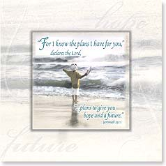 Birthday Magnet Card - Hope and A Future | Jeremiah 29:11 | Kathleen Francour | 24054 | Leanin' Tree