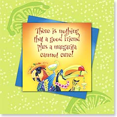 Friendship Magnet Card - The Margarita Cure | Illustrated Escapes, Inc. | 24058 | Leanin' Tree