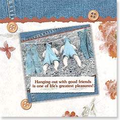 Friendship Magnet Card - Hanging Out | Christina Bynum Breaux | 24060 | Leanin' Tree