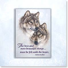 Anniversary Magnet Card - Wolf Pair | Mated for Life | Larry Fanning | 24061 | Leanin' Tree