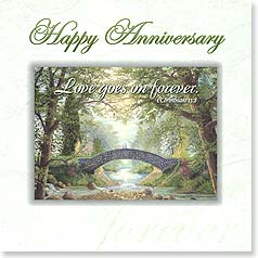 Anniversary Magnet Card - Love Goes On Forever | Jack  E. Dawson | 24062 | Leanin' Tree