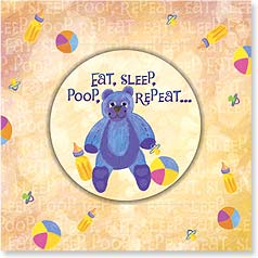 Baby Congrats Magnet Card - Eat, Sleep, Repeat | Bee Sturgis | 24063 | Leanin' Tree