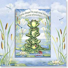 Encouragement Magnet Card - One Thing on Top of Another | Pamela Silin-Palmer | 24065 | Leanin' Tree
