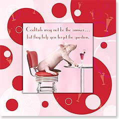 Encouragement Magnet Card - Cocktails Aren't The Answer! | Wild-Side Brands Ltd | 24067 | Leanin' Tree