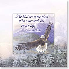 Blank Magnet Card - No Bird Soars Too High | Larry K. Martin | 24068 | Leanin' Tree
