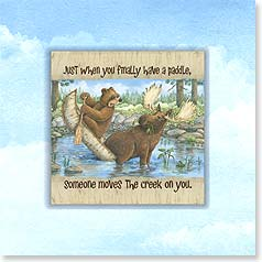 Encouragement Magnet Card - Someone Moved the Creek! | Jeffrey Severn | 24070 | Leanin' Tree