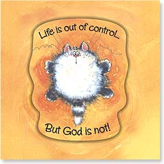 Encouragement Magnet Card - God Is In Control | Margaret Sherry | 24073 | Leanin' Tree