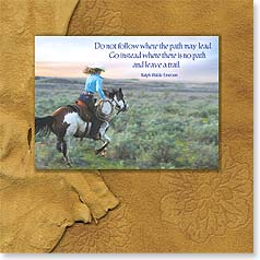 Motivation Magnet Card - Go Where There Is No Path | Steve Thornton | 24075 | Leanin' Tree