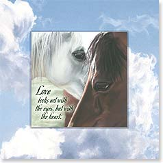 Love Magnet Card - Love Looks With The Heart | Kim McElroy | 24079 | Leanin' Tree