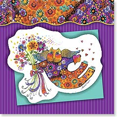 Thank You Magnet Card - Bunches of Thanks | Laurel Burch® | 24082 | Leanin' Tree