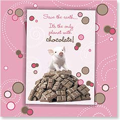 Birthday Magnet Card - The Only Planet with Chocolate | Wild-Side Brands Ltd | 24086 | Leanin' Tree