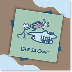 Birthday Magnet Card - Birthdays and Golf | LIFE IS CRAP® | 24088 | Leanin' Tree