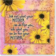 Birthday Magnet Card - What Can You Do For Your Mother? | Bee Sturgis | 24090 | Leanin' Tree