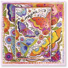 Birthday Magnet Card - A World of Love, Beauty and Kindness | Laurel Burch® | 24093 | Leanin' Tree