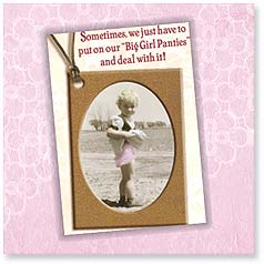 Birthday Magnet Card - Big Girl Panties | Maggie Mae Sharp | 24096 | Leanin' Tree