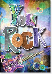 Birthday Card - You rock...Hope your birthday does too! | Connie Haley | 24119 | Leanin' Tree