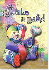 Baby Congratulations Card - Shake it Baby!  Congratulations on your new little one. | Connie Haley | 24129 | Leanin' Tree