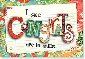 Congratulations Card - Congrats out of order would be Gnats Roc. | Connie Haley | 24130 | Leanin' Tree