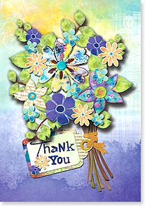 Thank You & Appreciation Card - A Bouquet of Thanks | Connie Haley | 24134 | Leanin' Tree