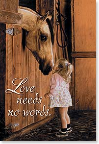 Magnet - Staff Pick - Love Needs No Words | Lesley Harrison | 25714 | Leanin' Tree