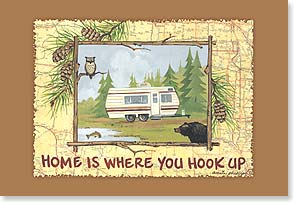 Magnet - Home is Where You Hook Up | Anita Phillips | 25948 | Leanin' Tree