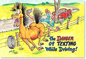 Magnet - Danger of Texting | Jim Lisk | 25978 | Leanin' Tree