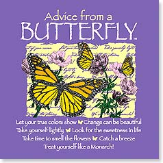 Magnet - Advice from a Butterfly | Your True Nature® | 26326 | Leanin' Tree