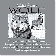 Magnet - Staff Pick - Advice from a Wolf | Your True Nature® | 26331 | Leanin' Tree