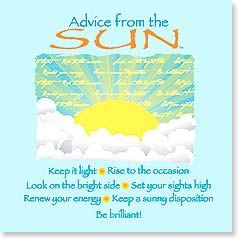 Magnet - Advice from the Sun | Your True Nature® | 26391 | Leanin' Tree