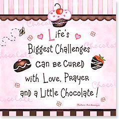Magnet - Love, Prayer and a Little Chocolate! | Barbara Ann Kenney | 26441 | Leanin' Tree