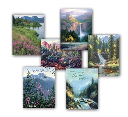Blank Note Card Assortment<BR/>2 each of 6 designs - Mountain Majesty - 28270 | Leanin' Tree