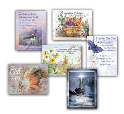 Blank Note Card Assortment<BR/>2 each of 6 designs - Inspirational - 28272 | Leanin' Tree