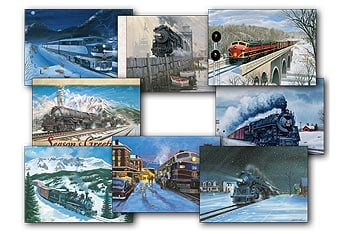 Christmas Card Value Pack - Christmas Trains - 28442 | Leanin' Tree