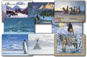 Christmas Card Value Assortment<BR/>3 each of 8 - 'Native American' Christmas Card Assortment - 28443 | Leanin' Tree