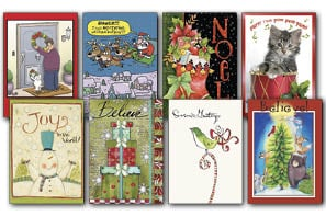 Christmas Card Value Assortment<BR/>3 each of 8 - 'Holiday Cheer' Assortment - 28444 | Leanin' Tree