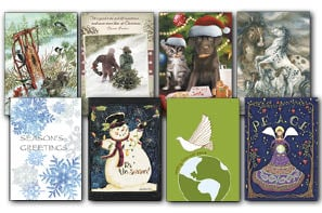 Christmas Card Value Assortment<BR/>3 each of 8 - 'Best Variety' Assortment - 28445 | Leanin' Tree