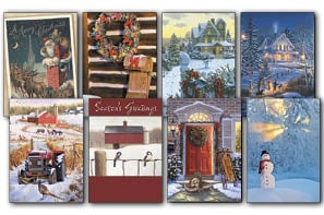 Christmas Card Value Assortment<BR/>3 each of 8 - 'American Heritage' Assortment - 28446 | Leanin' Tree