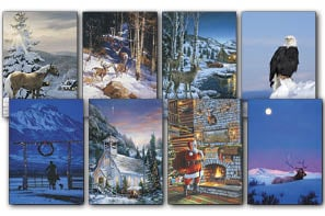 Christmas Card Value Assortment<BR/>3 each of 8 - 'In the Mountains' Assortment - 28448 | Leanin' Tree