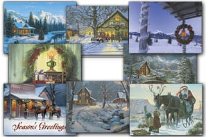 Christmas Card Value Assortment<BR/>3 each of 8 - 'Best of the West' Assortment - 28449 | Leanin' Tree