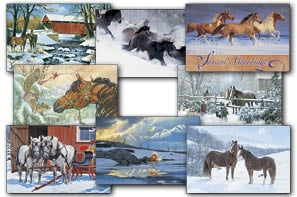 Christmas Card Value Assortment<BR/>3 each of 8 - 'Holiday Horse' Assortment - 28451 | Leanin' Tree